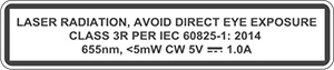 Laser warning label